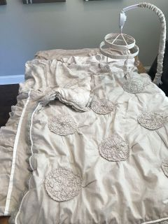 Crib Bedding Set Plus Mobile- Extra Fitted Sheet! / Baby Comforter Set / Baby Mobile