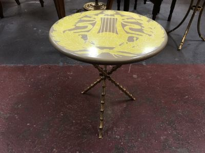 Vintage MCM Round Drinks Table c. 1960