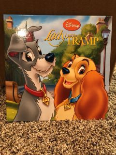 Disney Lady and the Tramp Hard Cover Book.