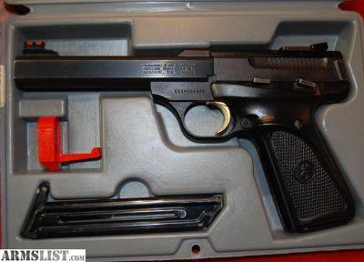 For Sale/Trade: Excellent Browning Buckmark .22 LR Pro Target, Bull Barrel, Fiber Optic Sights,