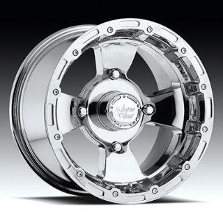 "Find 14"" Vision 161 Bruiser ATV Wheels 14X7 4X156 BS4"" Chrome 161-147156C4 motorcycle in Holt, Michigan, US, for US $130.00"