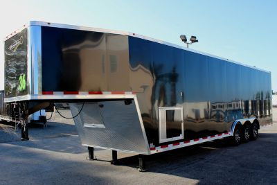 36' Race Car Trailer w/Tapered Nose Fin. Interior
