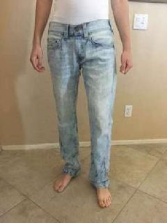 TRUE RELIGION Men's Geno Waist Sz 32 Bleached Out Slim Straight Jeans