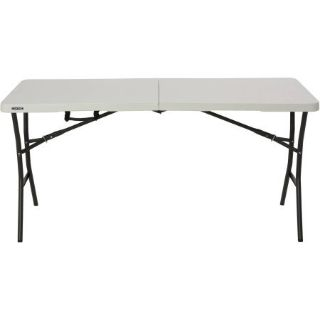 Lifetime 5' Essential Fold-in-Half Table (White) - NEW!
