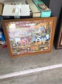 framed puzzle picture