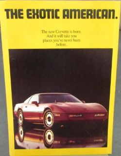 Sell Original 1984 Chevrolet Corvette Dealer Sales Brochure New Corvette motorcycle in Holts Summit, Missouri, United States, for US $14.84