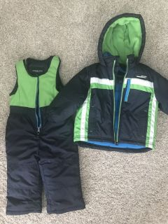 Toddler boy winter jacket and snow pant set 2T