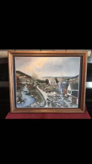 VINTAGE Linda Nelson Stocks 1993 art picture. MATTED AND FRAMED