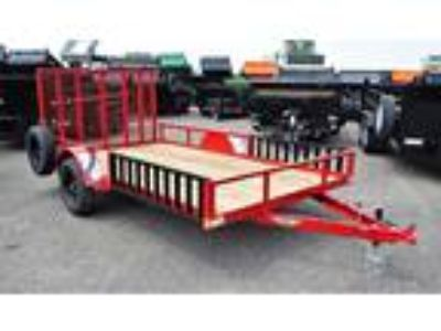 2019 H&H 8.5x14 Rail Side ATV/Utility Trailer - Red