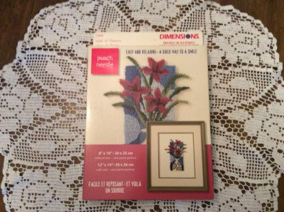 Dimensions Punch Needle Craft - Vase of Flowers