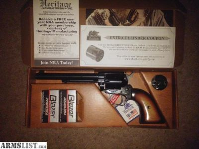 For Sale: New Heritage Rough Rider 22lr with ammo & free NRA membership