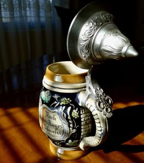 Small West German DBGM Lidded Beer Stein