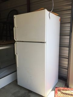 GE refrigerator 75 inches tall