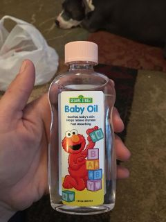 Sesame Street baby oil - ppu (near old chemstrand & 29) or PU @ the Marcus Pointe Thrift Store (on W street)