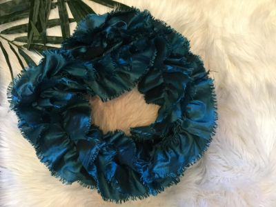 NWOT! Never worn! Teal Boutique Ruffled Scarf. Scroll for style suggestion photo (not my photo).