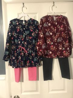 Three interchangeable outfits sz 6 Carter s