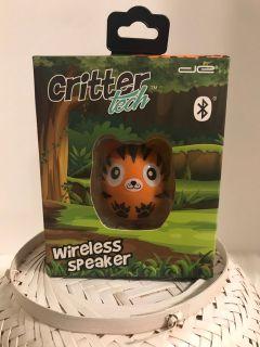 Critter Tech Wireless Rechargeable 2 Tiger Portable Speaker Bluetooth SPEAKER