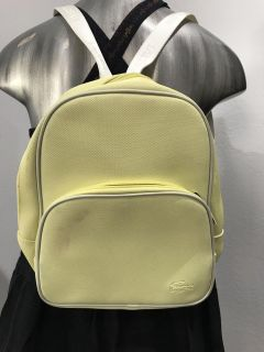 Lacoste classic 11 18 junior school backpack pastel yellow new with tag