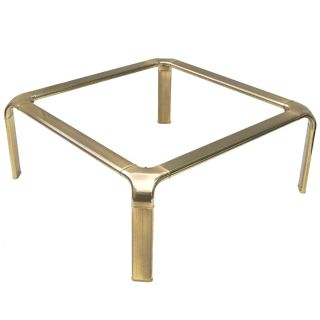 Mastercraft Brass + Glass Coffee Table