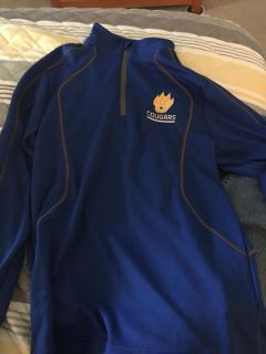 Dry fit, new with tags, no smoking, Goodpasture Cougars, neck zip, light weight jacket. Huge reduction $14.00