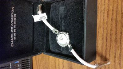 Charles WInston diamond mother of pearl watch