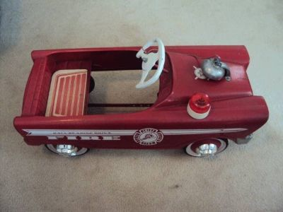 Vintage Pedal Car - Fire Engine Chief - 1960s