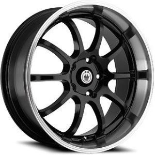 Sell 16 KONIG LIGHTNING BLACK RIMS WHEELS 16x7 +40 4x114.3 CUBE ACCORD ALTIMA SENTRA motorcycle in Cypress, California, US, for US $469.95