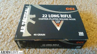 For Sale/Trade: CCI AR Tactical .22 lr ammo (22 mini-mags)