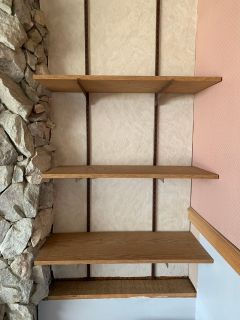Wall mount shelving asking $75
