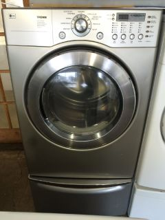 LG Electric Dryer in Titanium