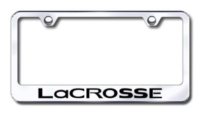 Sell GM LaCrosse Engraved Chrome License Plate Frame Made in USA Genuine motorcycle in San Tan Valley, Arizona, US, for US $30.98