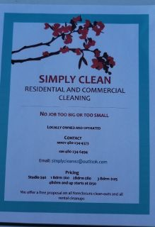 Experienced cleaning team. Residential and Commercial