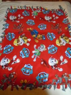 Paw Patrol Hand Tied Double Sided Rag Blanket ~ New