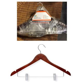 Honey Can Do Basic Suit Hanger With Clips (Pack of 3)