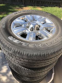***4 Goodyear wrangler tires with rims***