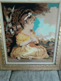 $450, Vintage Margot Creations de Paris Needlepoint Tapestry