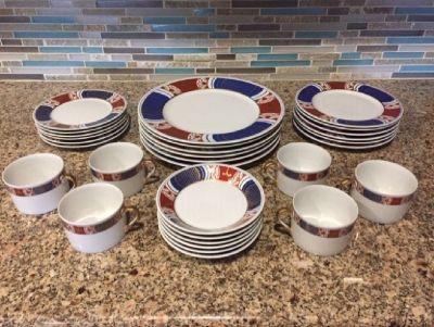FITZ AND FLOYD NISHIKI -  China Dinnerware setting for 6