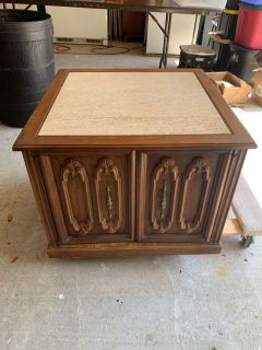 Nightstand / coffee table - marble top