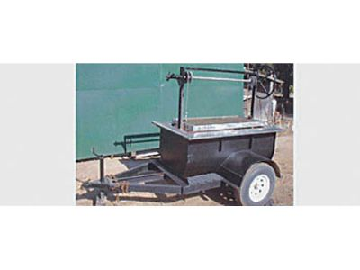 BBQ TRAILER, MOSTLY STAINLESS STEEL CONSTRUCTION, GRILL ...