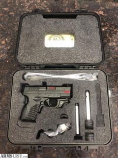 For Sale: Pristine Springfield XDS 9mm w/ Original Factory Crimson Trace Laser