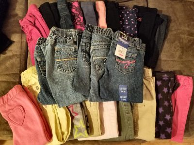Lot of 2T / 24 months girls pants