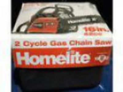 Brand New Homelite NIB in. cc Gas Chain saw