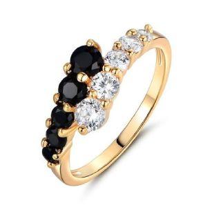A Beautiful Brilliant Unique Platinum Filled Ring