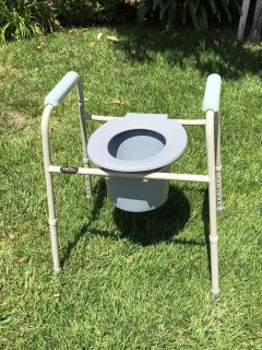 Commode adjustable height