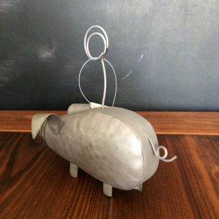 Pig Photo Holder - Farmhouse Decor - NWT