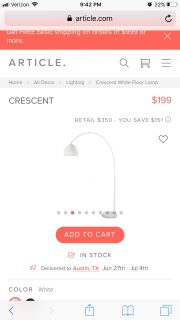 Article crescent lamp BRAND NEW