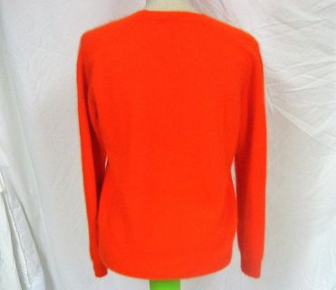 NWOT Women's Gianni Bini Rabbit Hair Sweater Long Sleeve Med Soft Orange Crew