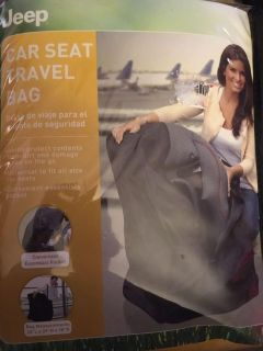 New in bag Jeep car seat travel bag