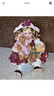 Rosie The Boyds Bears collector porcelain doll