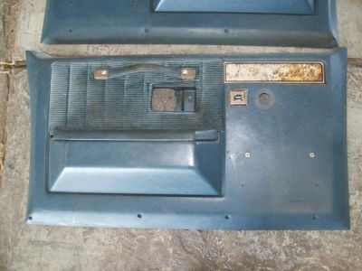Sell 81-87 81-91 GM Chevy Gmc Truck Suburban Crew Cab Blazer Front Door Panels (Blue) motorcycle in Arkansas City, Kansas, US, for US $120.00